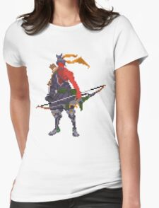 Red Hanzo Pixel Womens Fitted T-Shirt