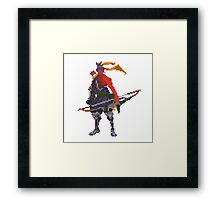 Red Hanzo Pixel Framed Print