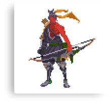 Red Hanzo Pixel Canvas Print