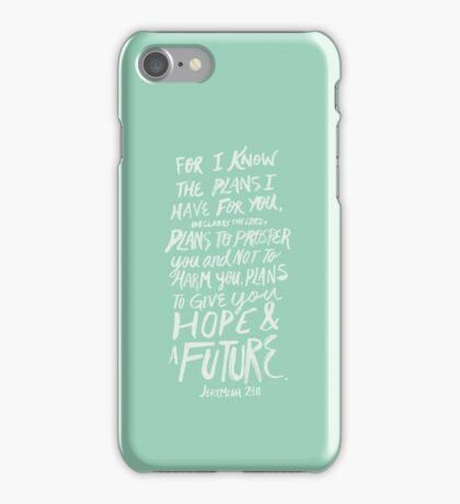 Jeremiah 29: 11 x Mint iPhone Case/Skin