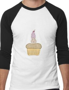 Cupcake Men's Baseball ¾ T-Shirt