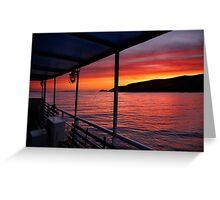 "Sunrise on board of F/B ""Aiolis"" Greeting Card"