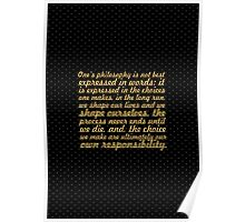 """Once's philosophy is... """"Eleanor Roosevelt"""" Inspirational Quote Poster"""