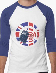 TARDIS Union Jack Men's Baseball ¾ T-Shirt