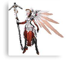 Dark Red Mercy pixel Canvas Print
