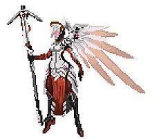 Dark Red Mercy pixel Photographic Print
