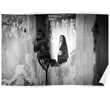 woman in abandoned house Poster