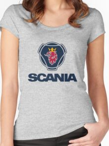 scania big truck Women's Fitted Scoop T-Shirt
