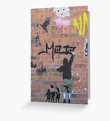Street art Greeting Card