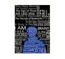 Sherlock Quotes Art Print