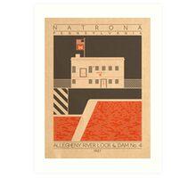 Allegheny River Lock & Dam No. 4 - 1927 (Orange) Art Print