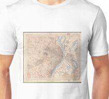 Vintage Map of St. Louis Missouri (1904) Unisex T-Shirt
