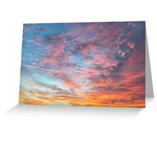 Cotton Candy Sunrise Greeting Card