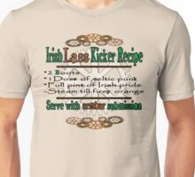 Irish Lass Kicker Recipe Unisex T-Shirt