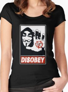 DISOBEY (Anonymous) Women's Fitted Scoop T-Shirt