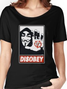 DISOBEY (Anonymous) Women's Relaxed Fit T-Shirt