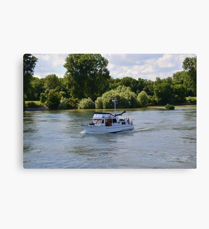 Grand Banks Style Motor Boat Canvas Print