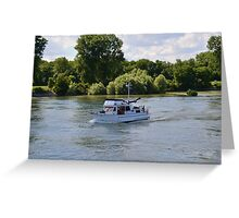 Grand Banks Style Motor Boat Greeting Card