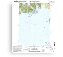 USGS TOPO Map Alaska AK Cordova C-7 355201 2000 63360 Canvas Print