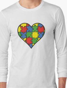 Autism Awareness Heart Long Sleeve T-Shirt