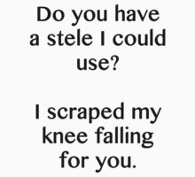 Do you have a stele I could use? by caramorgan