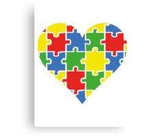 Autism Awareness Heart Canvas Print