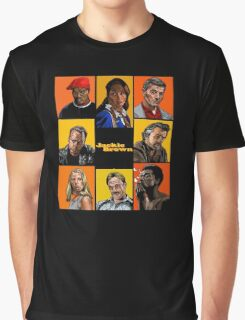 -TARANTINO- Jackie Brown Cartoon Graphic T-Shirt