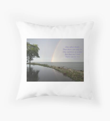 A Song of Rainbows Throw Pillow