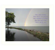 A Song of Rainbows Art Print