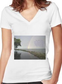 A Song of Rainbows Women's Fitted V-Neck T-Shirt
