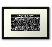 Wrought Iron Black and White Framed Print