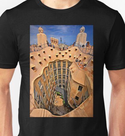 Vertigo on La Pedrera - Barcelona Unisex T-Shirt