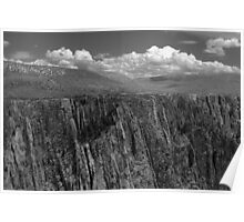 Black Canyon of the Gunnison 5 BW Poster
