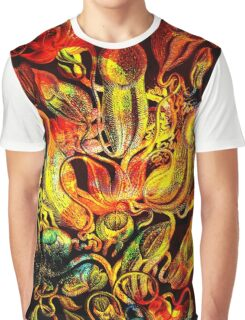 Plants & Animals, carnivorous, pitcher plants, tropical, Nepenthes, psychedelic, art, illustration, haeckel,  Graphic T-Shirt