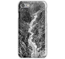 Black Canyon of the Gunnison BW iPhone Case/Skin