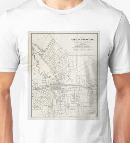Vintage Map of Syracuse New York (1873) Unisex T-Shirt