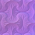 Lavender Three Dimensional Fractal Pattern by Lyle Hatch