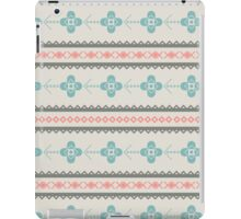 Retro seamless pattern with triangles, floral and decorative objects iPad Case/Skin