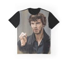 Sherlock with beard Graphic T-Shirt