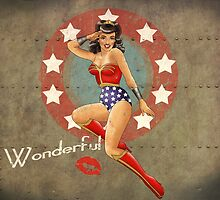 Wonder Woman War Pin Up Bombshell by atomicgirl