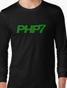 Retro PHP7 Scanline Hacker Logo Long Sleeve T-Shirt