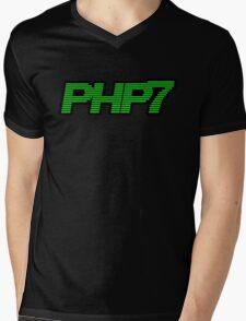 Retro PHP7 Scanline Hacker Logo Mens V-Neck T-Shirt