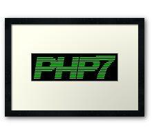 Retro PHP7 Scanline Hacker Logo Framed Print