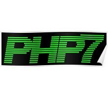 Retro PHP7 Scanline Hacker Logo Poster