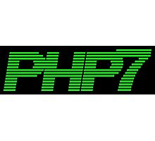 Retro PHP7 Scanline Hacker Logo Photographic Print