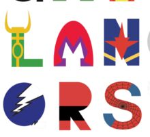Super Hero Alphabet Sticker