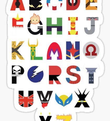 Marvel Superhero Alphabet Sticker