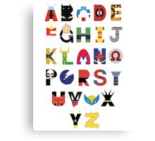 Super Hero Alphabet Canvas Print
