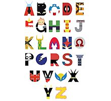 Super Hero Alphabet Photographic Print
