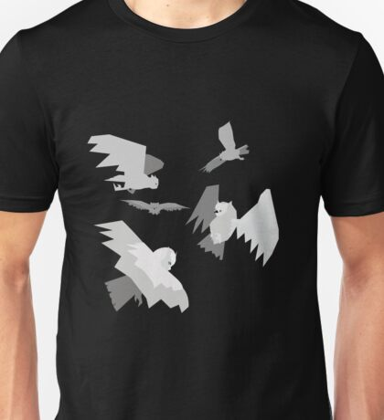 Angry Owl Pattern Unisex T-Shirt